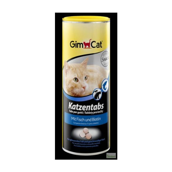 GimCat Cat Tabs with Fish und Biotin - Kiegészítő eleség (Halas,biotinos tabletta) macskák részére (710db)