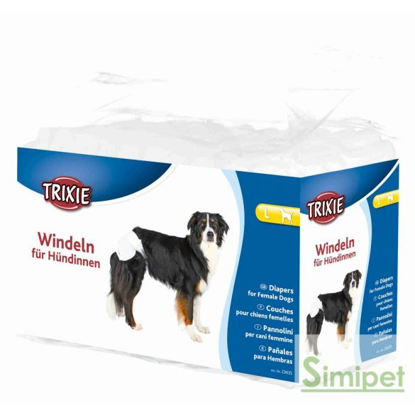 Trixie nőstény kutya pelenka nadrág L 12db