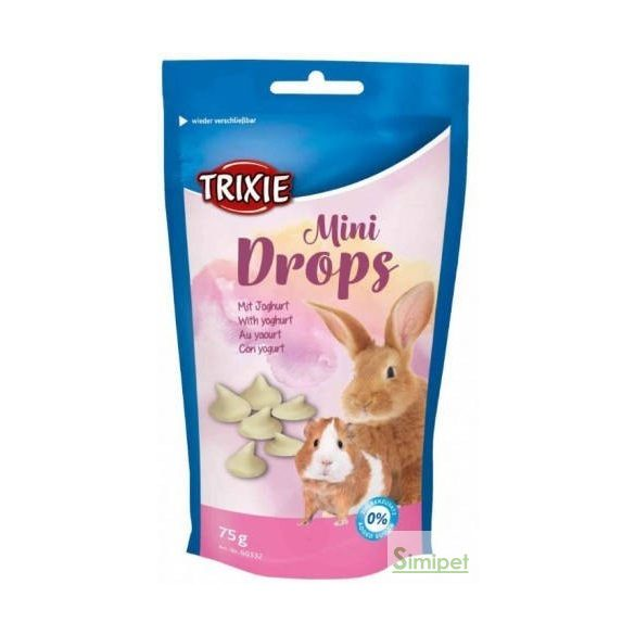 trixie 60332 mini drops 75g yoghurt