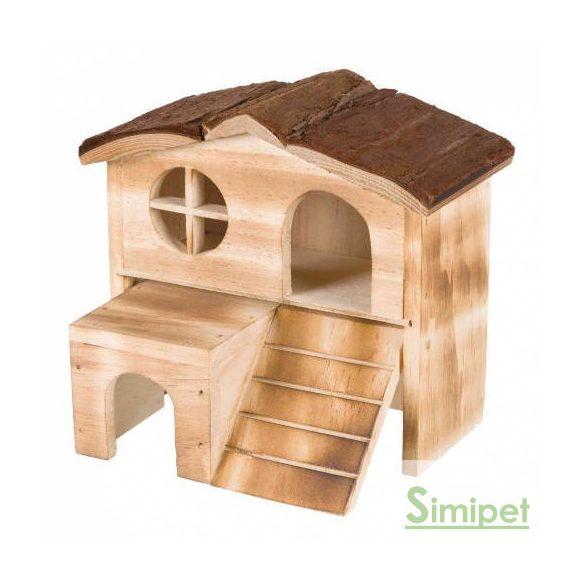 Trixie Kasja Ház - Fából készült odú hörcsögök és egerek részére (17x15x13cm)