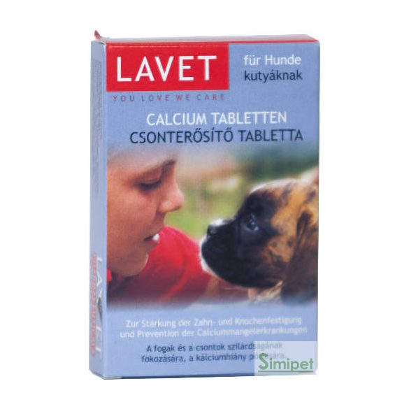 Lavet Calcium Tabletten - Vitamin készítmény (csonterősítő) kutyák részére 50g/50db tbl.