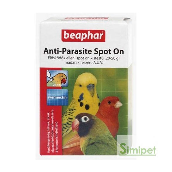 Beaphar Spot On kistestű madaraknak