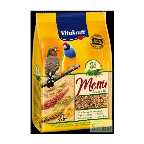 Vitakraft Menu (Exotikus madarak) - Teljes értékű eledel (500g)