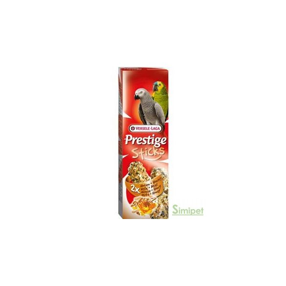 Versele Laga Prestige Sticks Dupla Rúd (méz,mogyoró) - kiegészítő eleség óriás papagáj részére (140g)