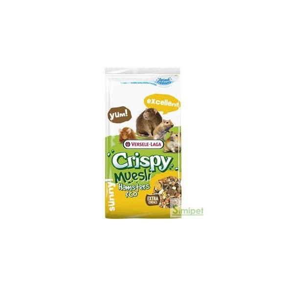 Versele-Laga Crispy Muesli Hamster & Co - Müzli eleség hörcsögök,egerek,patkányok és futóegerek részére (1kg)