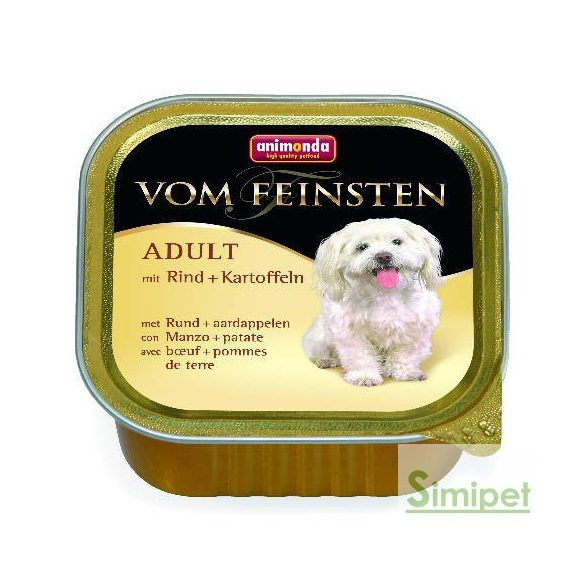 Animonda Vom Feinsten Adult (marha,burgonya) alutálkás - Felnőtt kutyák részére (150g)