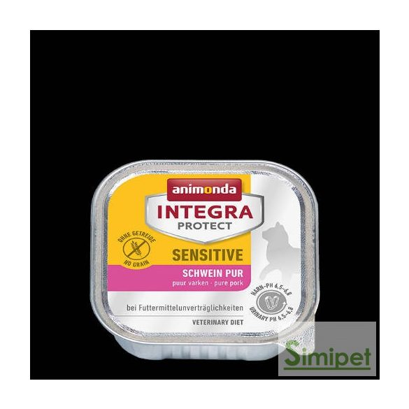Animonda Integra Sensitive (sertés) alutálkás - Táplálék-intoleranciás macskák részére (100g)
