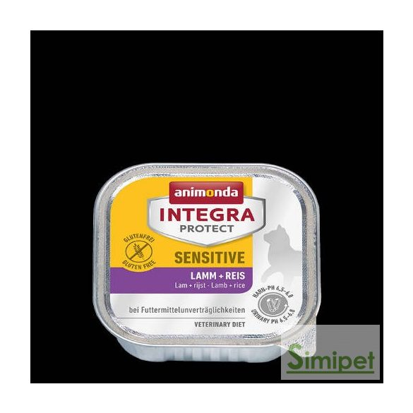 Animonda Integra Sensitive (bárány,rizs) alutálkás - Táplálék-intoleranciás macskák részére (100g)