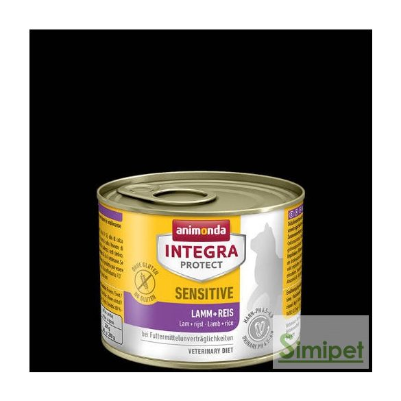 Animonda Integra Sensitive (bárány,rizs) alutálkás - Táplálék intoleranciás macskák részére (200g)